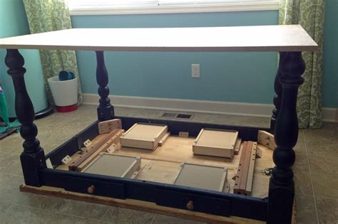 remodelaholic how to turn a table into a rolling island
