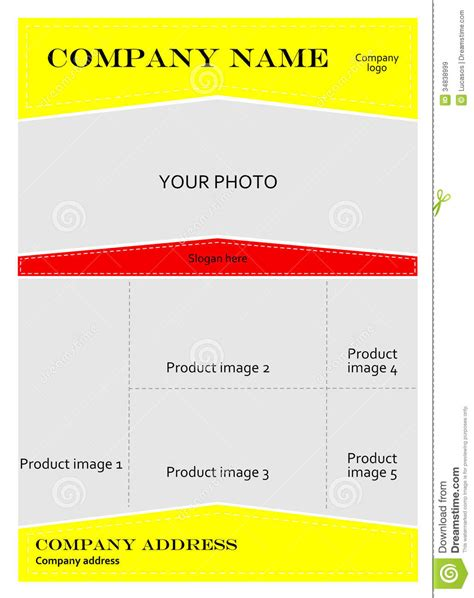template for advertising brochure royalty free stock