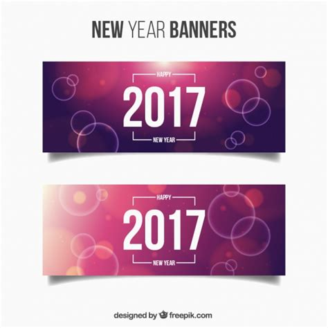 new year banner free pack of new year banners with purple backgrounds and