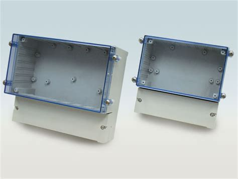 Cabinet Rails Dual Compartment Enclosure With Transparent Cover