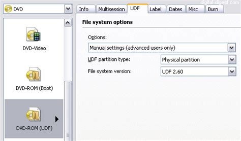 format cd udf file system cdburnerxp nece da reze cd