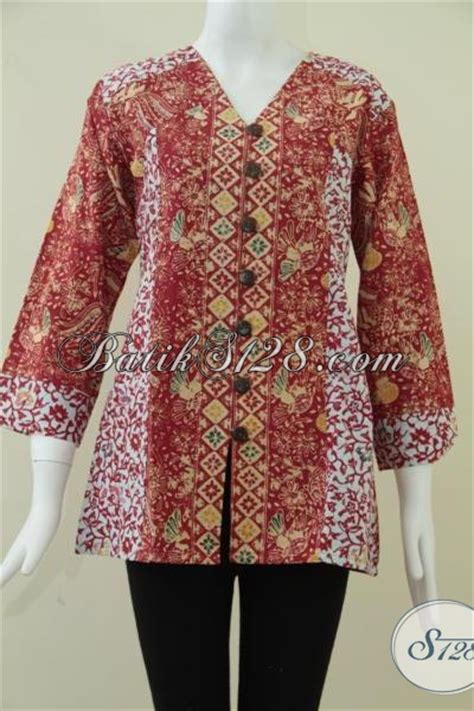 Tunik Kombinasi 70 Baju Batik Wanita Baju Batik Kerja Kantor Atasan Batik