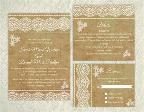 elegant wedding invitation printable printable lace wedding invitation suite printable