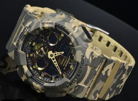 Casio G Shock Ga 100 Army buy casio g shock army camouflage ga100cm 5