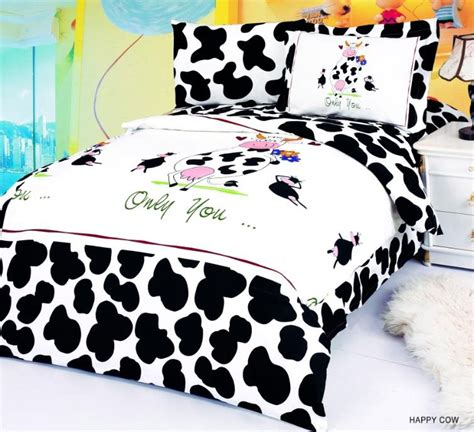 cow print bedding happy cow fun duvet covers for kids
