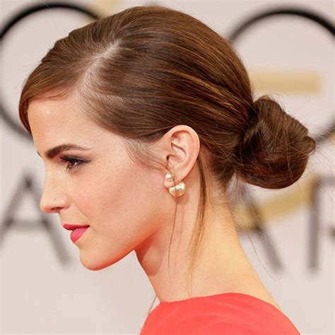 emma watson hairdos easy step by step 15 easy celebrity updos updo emma watson hair and earrings