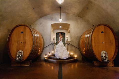 black bucks in a wine barrel room viansa winery wedding