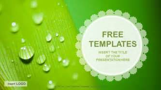 powerpoint templates downloads droplets nature ppt templates free