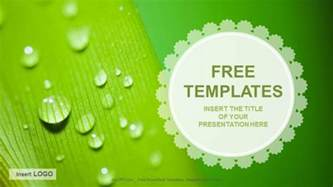 flash presentation templates free droplets nature ppt templates free