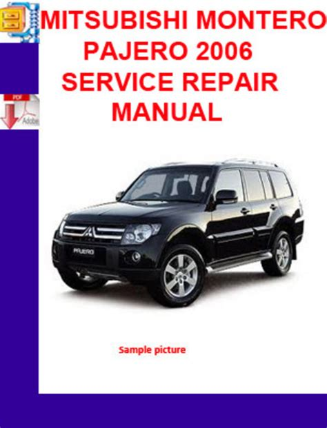 mitsubishi montero pajero 2006 service repair manual download man