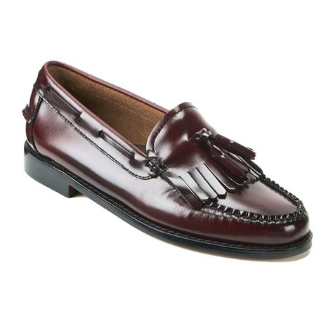 bass weejuns womens loafers bass weejuns s kiltie leather moc tassle loafers
