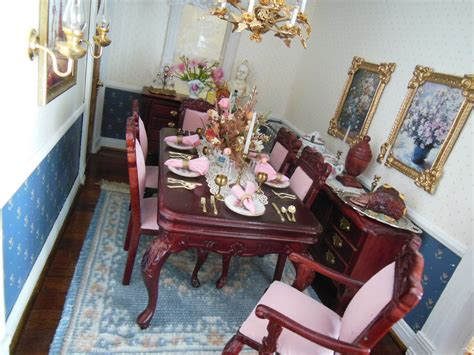 hofco federal victorian dollhouse dining room  images