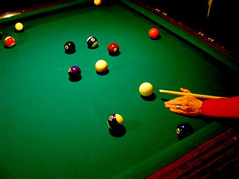 pool table balls green arm cue christopher sessums flickr