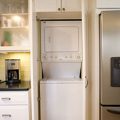 washer dryer in kitchen hide the laundry room in kitchen cabinets 10 ways to