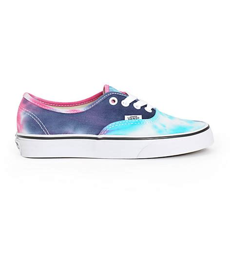 Vans Authentic Tie Dye Color vans authentic tie dye shoes zumiez