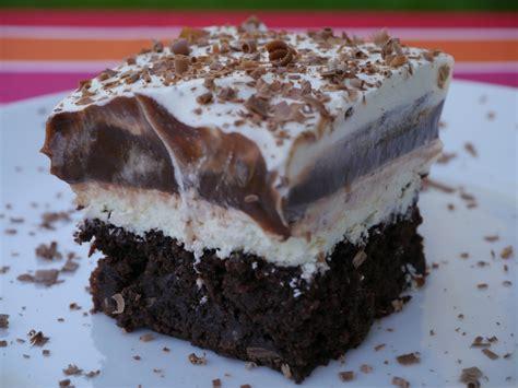 charlotte s fan fare creamy pudding brownie cake