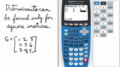 calculator matrix matrix determinant ti 84 calculator youtube