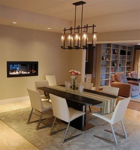 Home Trends And Design Dining Table dining room fireplace ideas for romantic winter nights
