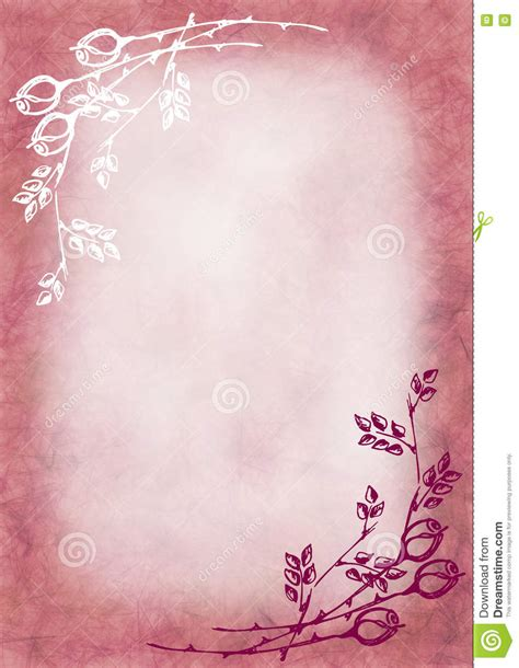 hand drawn textured floral background pink colors