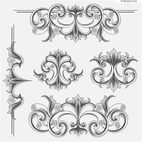 pattern victorian vector 4 designer victorian style decorative patterns vector