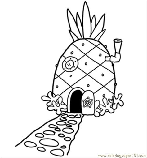 14 pineapplehousesquare 300 printable coloring page for
