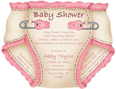 templates for diaper baby shower invitations diaper baby shower invitation theruntime com