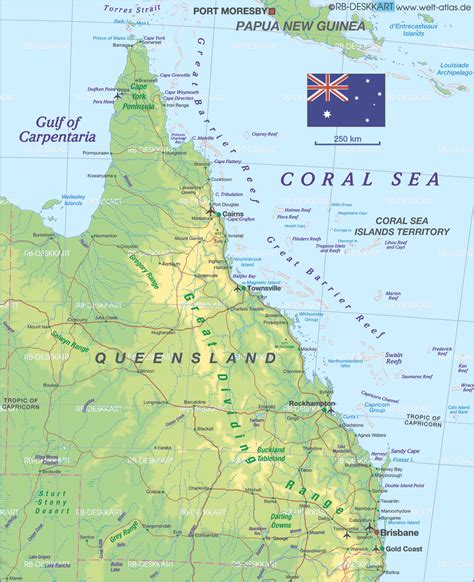 queensland australia map map of queensland australia map in the atlas of the