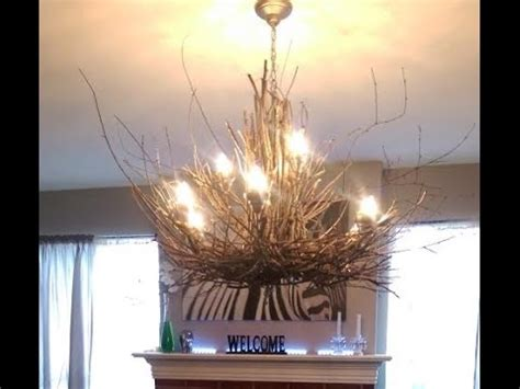 diy rustic chandelier twig chandelier diy rustic light fixture project
