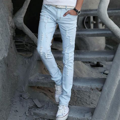 colored jeans in 2015 2017 2015 new light colored skinny jeans male fashion men