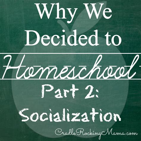 why we decided to homeschool part ii socialization