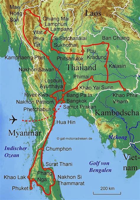 Motorradreisen Thailand by Motorradreise Thailand Gef 252 Hrte Motorradtouren