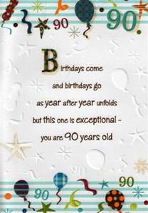 verses for a 90th birthday card google search birthday