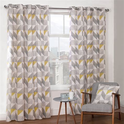 grey and yellow curtains uk julian charles delta grey yellow luxury lined eyelet