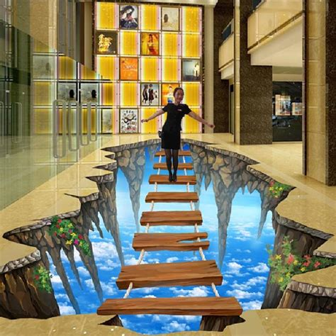 stereoscopic illusion paintings wall painted murals