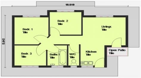 Fantastic 3 Bedroom House Plan South Africa Small House | south african 3 bedroom house plans home mansion