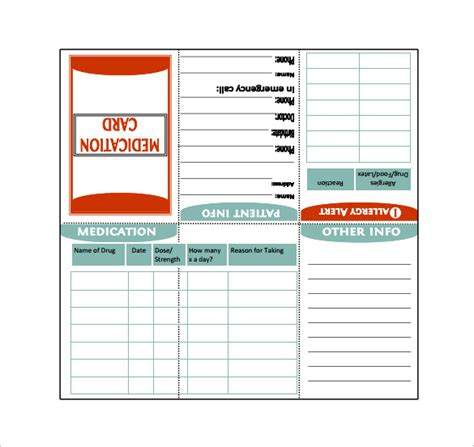 8 medication card templates doc pdf free premium