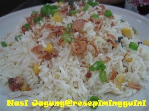 nasi jagung resepi minggu