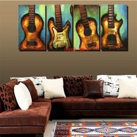 music home decor handmade painting picture on canvas wall art music picture