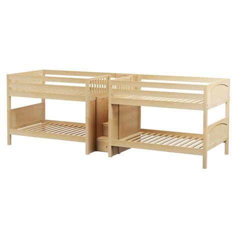 quadruple bunk bed maxtrixkids mega np quadruple bunk bed with staircase