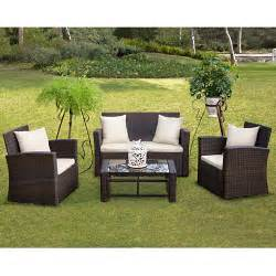 Wicker Patio Furniture Sets Walmart by Handy Living 4 Piece Deep Seating Group With Cushions Ii