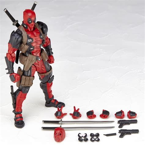 deadpool figure 90s revoltech deadpool revealed spider and venom teased