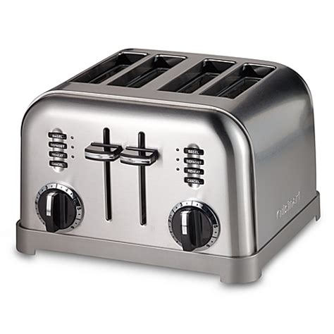 Toaster Slice Cuisinart 174 Metal Classic 4 Slice Toaster Bed Bath Beyond
