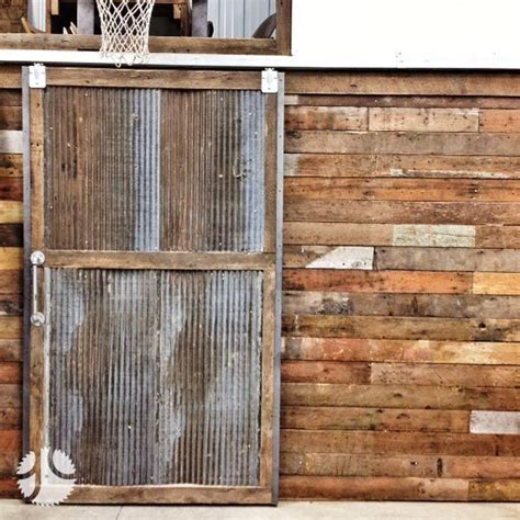 Sliding Barn Doors For Garage Corrugated Sliding Door Custom Sliding Barn Door Reclaimed Wood Corrugated Metal For The