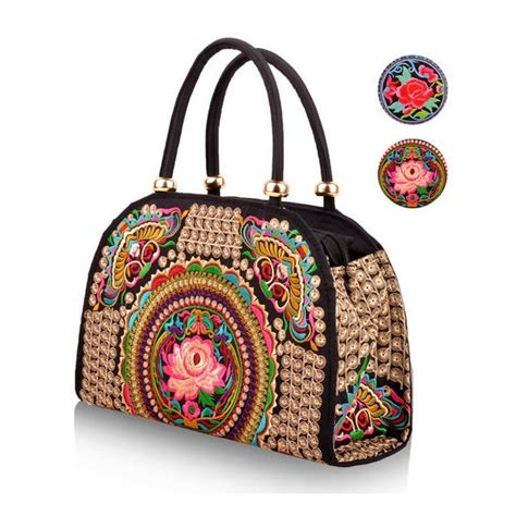 Embroidered Tote Bag ethnic bag embroidered tote bag with removable
