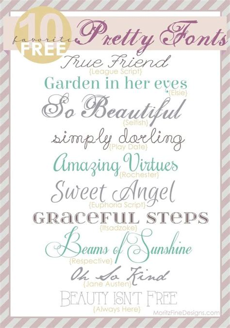 Wedding Font Use by Pretty Fonts Free To Use For Wedding