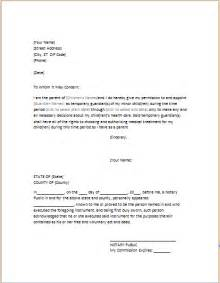 Writing A Power Of Attorney Letter by Power Of Attorney Letter For Child Care Word Excel Templates
