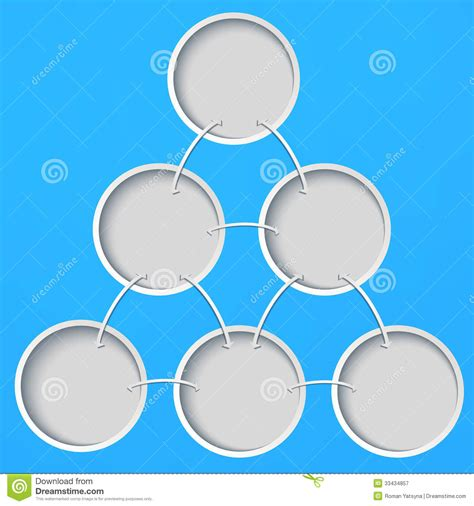 background layout design blue abstract template with circles on a blue background stock