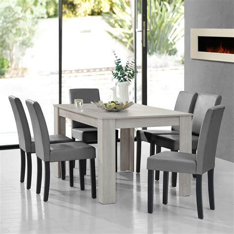 tisch meaning encasa table de salle 224 manger ch 234 ne blanc avec 6 chaises