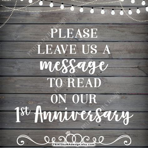 Wedding Anniversary Message To Us by Leave Us A Message To Read On Our Anniversary