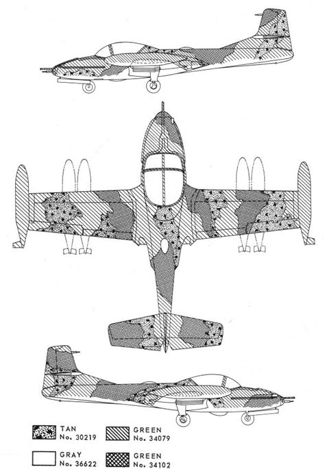 cessna a 37 dragonfly southeast asia camouflage color profile and paint guide